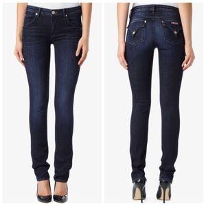Hudson Pocket Flap Dark Wash Straight Leg Jeans 28